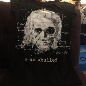 💀🖤Jawbreaker Einstein Skull Black Top